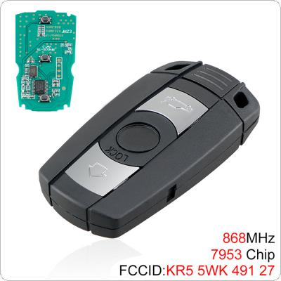 868MHz 3 Buttons Keyless Remote Key with 7953 Chip for BMW CAS3 System  X5 X6 Z4 1 / 3 / 5 / 6 / 7 Series Vehicle Smart Key 2002-2013