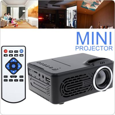 RD814 Mini HD Portable LED Homehold Projector Support 80 Inch Large Screen Projection with Remote Control for Home
