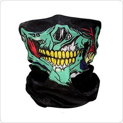 Cycling Bicycle Ski Skull Half Face Mask Ghost Scarf Multi Use Neck Warmer COD Hiking Riding