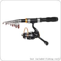 2.3m Mini Ultra Short Telescopic Fishing Rods Glass Fiber 11 Section Portable Lure Ice Fishing Pole