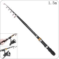 1.5m Mini Ultra Short Telescopic Fishing Rods Glass Fiber 7 Section Portable Lure Ice Fishing Pole
