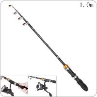 1.0m Mini Ultra Short Telescopic Fishing Rods Glass Fiber 5 Section Portable Lure Ice Fishing Pole