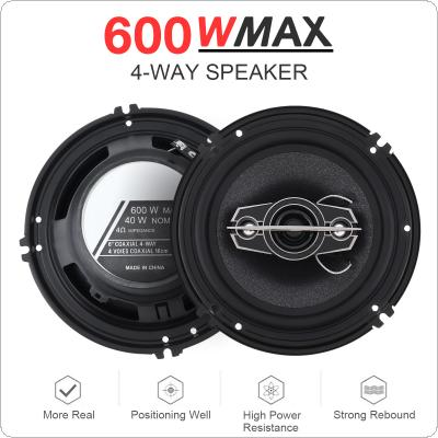2pcs 6 Inch 600W 4 Way Car Coaxial Auto Music Stereo Full Range Frequency Hifi Speakers Non Destructive Installation