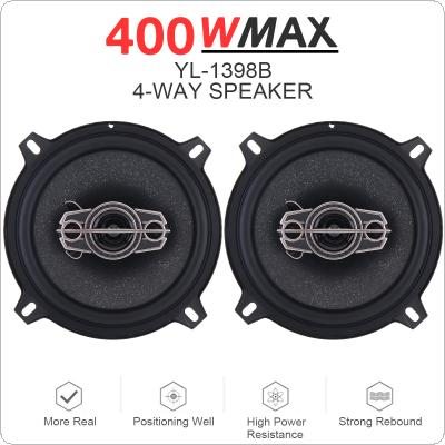 2pcs 5 Inch 400W 4 Way Car Coaxial Auto Music Stereo Full Range Frequency Hifi Speakers Non Destructive Installation