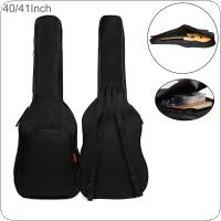 40 / 41 Inch Oxford Fabric Guitar Case Gig Bag Double Straps Padded 5mm Cotton Soft Acoustic Folk Classical Guitar Waterproof Backpack