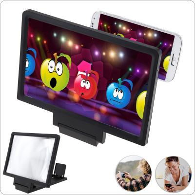 3X Black Acrylic + ABS Portable Adjustable 3D Video Mobile Phone Screen Magnifier with Mobile Phone Bracket