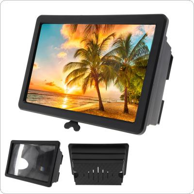 2X Black Acrylic + ABS Portable Extension Type 3D Video Mobile Phone Screen Magnifier with Mobile Phone Bracket