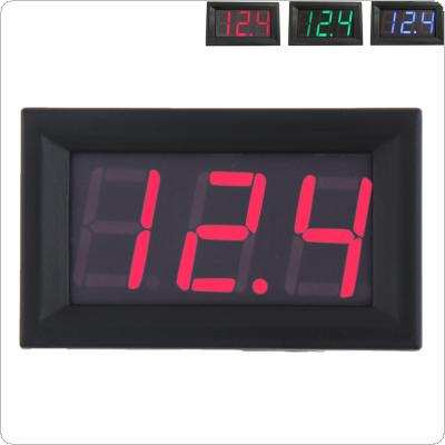 3wires 0.56 inch Mini Digital Voltmeter DC100V Panel Amp Volt Voltage Meter Tester LED Display