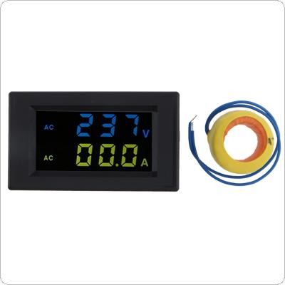 High Precision D85-2042A AC 80-500V 100A Dual Display LED Volt Amp Meter with Current Transformer