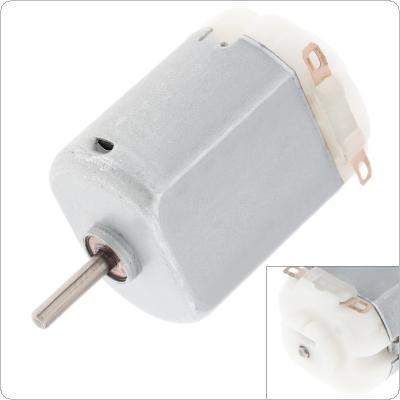 130 3V 2.1A 12300RPM Micro DC Motor Mini Fan Small Motor with Carbon Brush for DIY Electric Toys Hobbies and Household Appliances