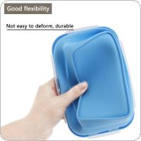 4pcs/set 350 / 500 / 800 / 1200 ML Portable Rectangle Silicone Scalable Folding Lunchbox Bento Box with Sealing Plug for - 40 Centigrade ~ 240 Centigrade