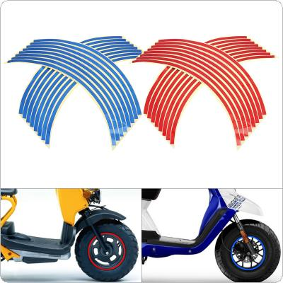 18 Inches 16 Strips Wheel Stickers Ring Sticker Auto Decals Tire Reflector Stickers Reflective Rim Tape for Motorcycle