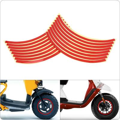 12 Inches 16 Strips Wheel Stickers Ring Sticker Auto Decals Tire Reflector Stickers Reflective Rim Tape for Motorcycle