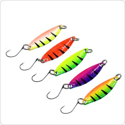 46180d60ef502 5pcs/lot Colorful Metal Spinner Spoon Fishing Lure 2g 3.5cm Metal Casting  Jig Carp