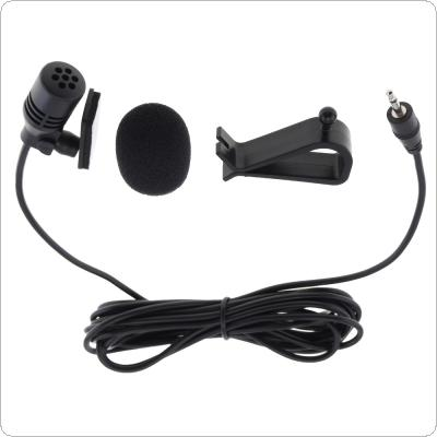 PVC Wired 2.5 mm Stereo Jack Mini 3m Car Microphone External Mic for PC Car DVD / GPS Player / Radio Audio Microphone