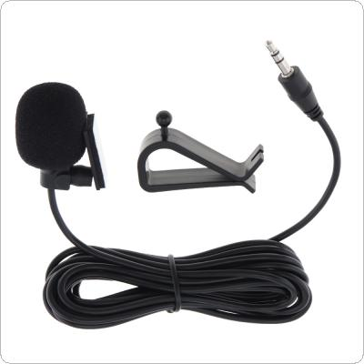 PVC Wired 3.5 mm Stereo Jack Mini Car Microphone External Mic for PC Car DVD / GPS Player / Radio Audio Microphone