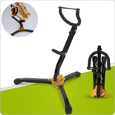 Foldable Alto Tenor Saxophone Stand Sax Tripod Holder Instrument Accessories
