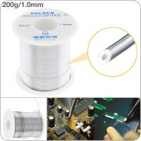 63/37 200g 1.0mm No Clean Rosin Core Solder Tin Wire Reel Tin Lead Wire with 2% Flux and Low Melting Point for Electric Soldering Iron