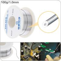 63/37 100g 1.0mm No-clean Rosin Core Solder Tin Wire Reel Tin Lead Wire with 2% Flux and Low Melting Point for Electric Soldering Iron