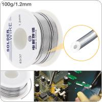 63/37 100g 1.2mm No-clean Rosin Core Solder Tin Wire Reel Tin Lead Wire with 2% Flux and Low Melting Point for Electric Soldering Iron