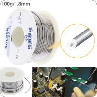 63/37 100g 1.8mm No-clean Rosin Core Solder Tin Wire Reel Tin Lead Wire with 2% Flux and Low Melting Point for Electric Soldering Iron