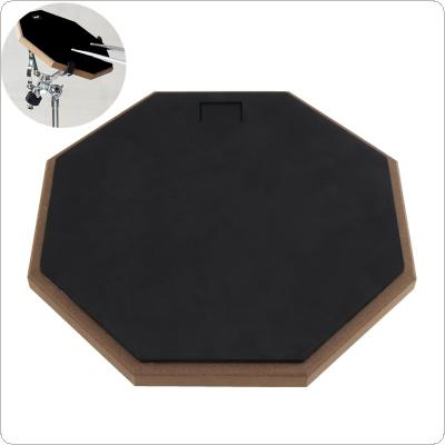 12 Inch Black Rubber Wooden Dumb Drum Practice Training Drum Pad for Jazz Drums Exercise