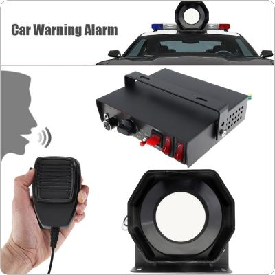 12V 400W 9 Tone Loud Car Warning Alarm Police Siren Horn Speaker with MIC System