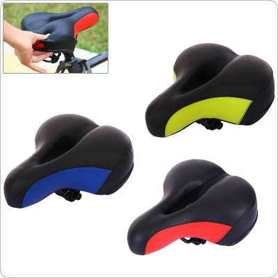 Reflective Hollow Bicycle Saddle PVC Fabric Soft MTB Cycling Road Mountain Bike Seat Bicycle Accessories