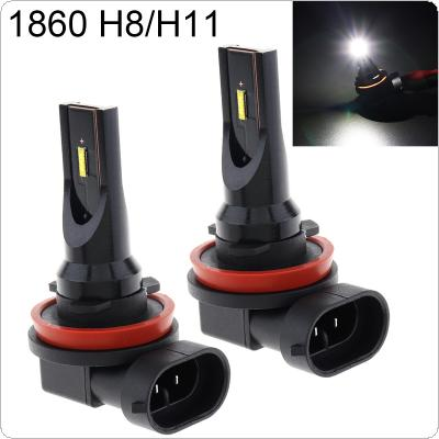 2pcs 12V/24V  H8 / H11 High Power 1860 Lamp Beads 1200LM 6500K-7500K White Driving Running Car Lamp Auto Light Bulbs