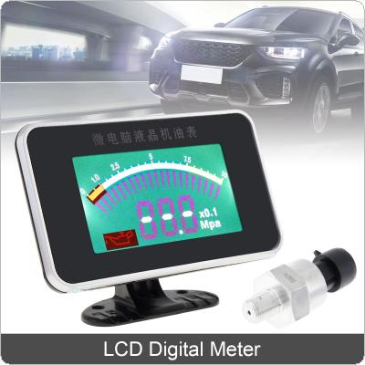 12V / 24V Universal  LCD Digital 1/8 NPT Fuel Gauge Auto Replacement Parts Support Compressed Air / Oil for Car / Motorcycle