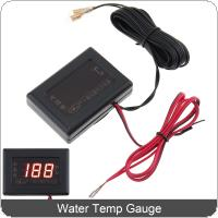 12V / 24 V Universal  Digital Display Anti Shake Water Temp Gauge with Sensor for Car / Truck