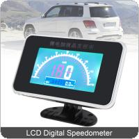 12V / 24V Universal  LCD Digital Anti Shake Speedometer for Car / Motorcycle