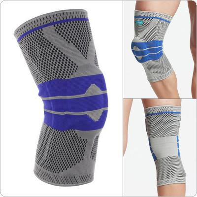 1PCS Weaving Silicone Knee Pads Supports Brace Volleyball Basketball Patella Protectors Sports Safety Kneepads Knee Pads