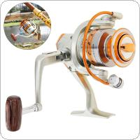 2000 Series 12 Ball Bearing 5.5:1 Fishing Reel Saltwater Freshwater Spinning Wheel with Metal Line Cup & Handle