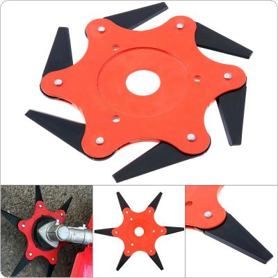 6 Teeth Blade Head Alloy Trimmer Metal Blades Lawn Mower Irrigation Cutter Manganese Steel Blade Weed Hoe General Fittings