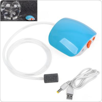 Rechargeable Portable Mini Air Pump Mute Increase Oxygen Pump Compressor Bubble for Fish Tank