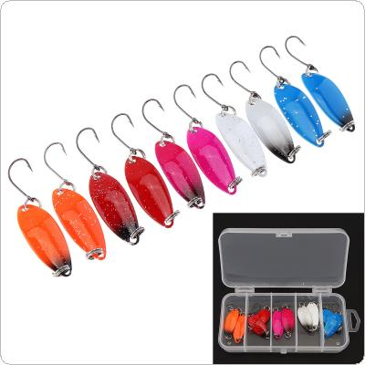 10pcs Colorful 3g Metal Spoon Lure Spinner Bait Hard Sequins with Box