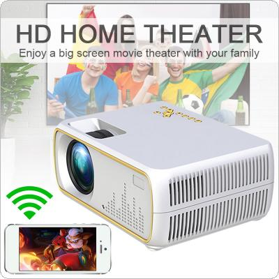 DH-A20 60W 2200 Lumens 800x480P Video Home Cinema LED HD Video Projector Built-in Speaker with Wireless Same Screen Support 56-100 Inch Screen Projection