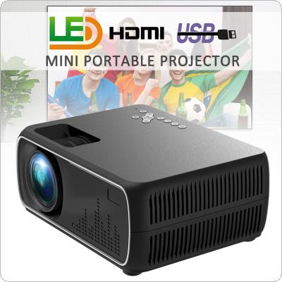 DH-A20 High Definition Glass Lens 60W 2200 Lumens 800x480P Video Home Cinema LED HD Video Projector Built-in Speaker Support 56-100 Inch Screen Projection