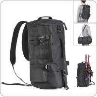 23L Multifunctional Waterproof Cylinder Fishing Bag Outdoor Waist Sport Travel Shoulder Reel Lure Rod Storage Backpack