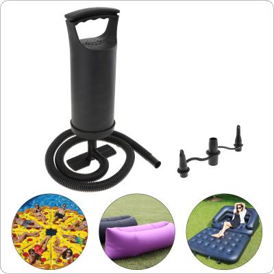 12 Inch 0.9L ABS Portable Mini Replaceable Bidirectional Manual Air Pump with 3 Nozzles