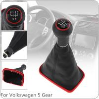 5 Speed ABS + PU Leather Car Manual Gear Shift Handball Knob With Dust Cover Fit for Volkswagen  1999-2004 Golf 4 IV MK4 GTI R32 Bora Jetta MT