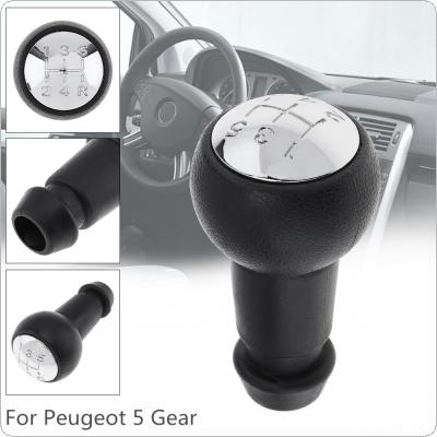 5 Speed  ABS Plastic Chrome Car Manual Gear Shift Handball Knob Fit for Peugeot 106 206 306 406 207 307 407 2008