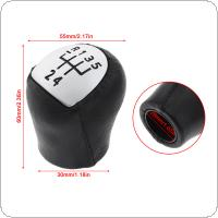 5 Speed  ABS Plastic + Leather Car Manual Gear Shift Handball Knob Fit for Renault Clio 2006 2007 2008
