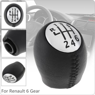 6 Speed  ABS Plastic + Leather Car Manual Gear Shift Handball Knob Fit for Renault Megane Clio Laguna Scenic / Vauxhall Opel