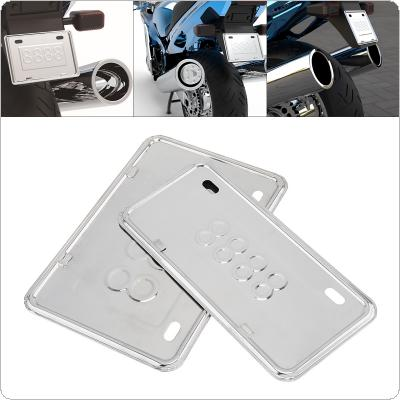 Thickened Stainless Steel 304 Bracket Plate Frame Front Rear License Plate Frame for Motorcycle / Scooter