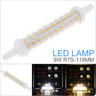 800LM 9W 80LEDs 118mm AC 220 - 240V R7S SMD 2835 Mini 360 Degrees Dimmable Warm White / Cool White with Horizontal Plug Corn Light / Replace Halogen Lamp