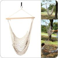 Outdoor Hammock Chair Hanging Chairs Swing Cotton Rope Net Swing Cradles Kids Adults Outdoor Indoor