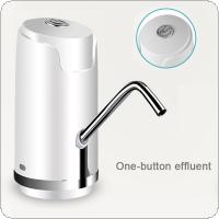 Portable Mini Push Button Wireless Rechargeable Electric Dispenser Water Pump with USB Cable / 304 Stainless Steel Tube for 4.5L - 18.9L Barrelled