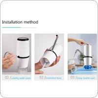Portable Double Pump Push Button Rechargeable Electric Dispenser Water Pump with 304 Stainless Steel  / USB Cable for 4.5 - 18.9L Barrelled Water